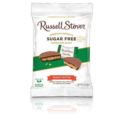 - Russell Stover Sugar Free Peanut Butter Cups, 3 oz. Bag