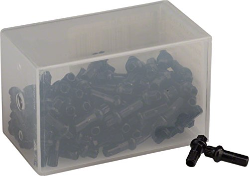 DT Swiss Squorx Pro Head 2.0 x 15mm Black Alloy Nipple, Box of 100