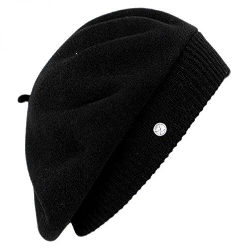 Laulhère Hats Parisienne Merino Wool Beret - Black 1-Size  Amazon.co ... bdb90d7fa4f