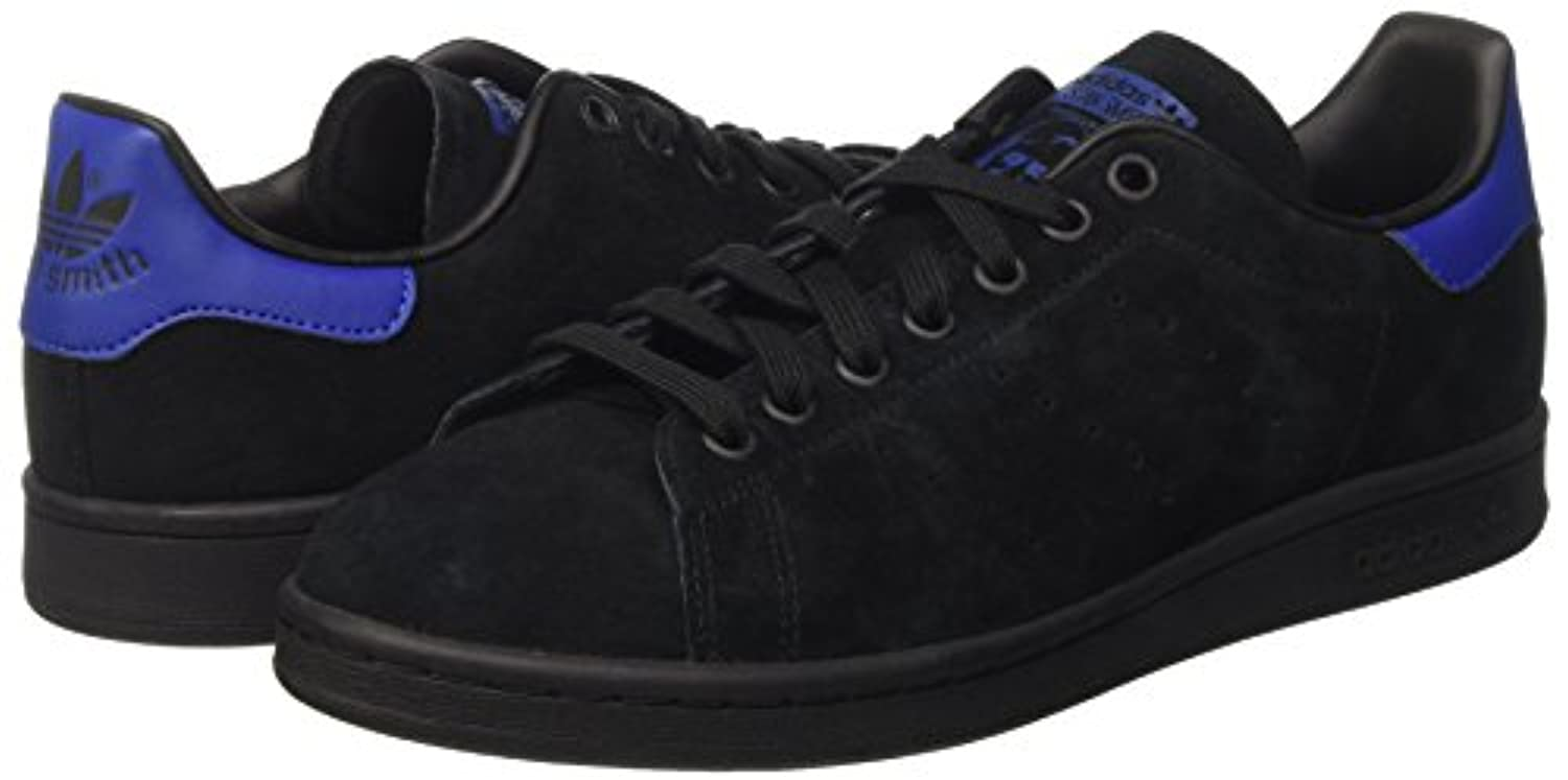 adidas Unisex Adults Stan Smith Low-Top Sneakers, Black (Core Black/Core Black/Collegiate Royal), 39 1/3 UK