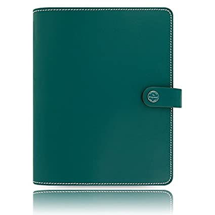 Filofax The Original Dark Aqua A5 Size Leather Organizer Agenda 2016 & 2017 Calendar Diary with DiLoro Jot Pad Refill 022383