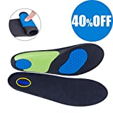Shoe Insoles - 2018 Upgraded Breathable Sport Shoe Inserts with Cushioning Arch Support Shock Absorption Insoles Cuttable Insoles Fits Work Boots/Shoes, Casual Shoes & Sneakers(Men Size 8-12)