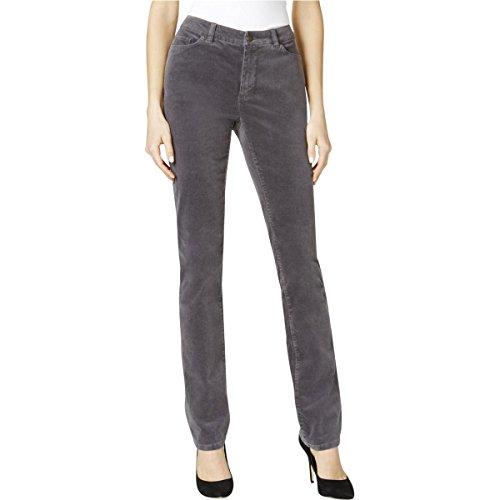 Cigarette Leg Pant (Charter Club Womens Lexington Tummy Slimming Straight Leg Corduroy Pants Gray 6)