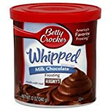Betty Crocker, Whipped Milk Chocolate Frosting, 12oz Tub (Pack of 3)