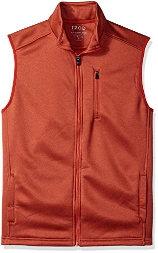 IZOD Men's Advantage Performance Spectator Fleece Vest, Ketchup, Large