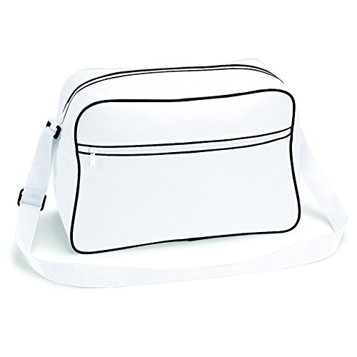 BagBase Retro Bag BG14 BagBase Shoulder White Black BG14 rrqpPxU