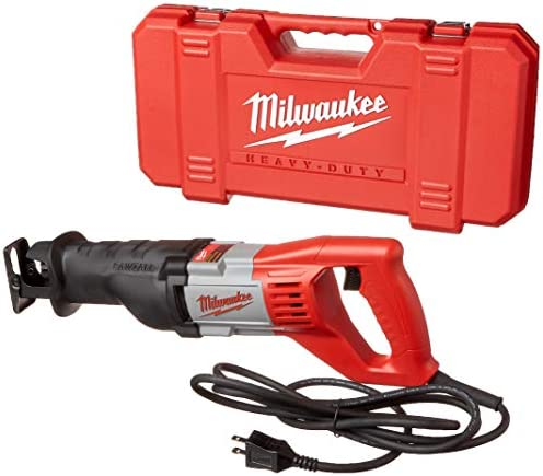 Milwaukee 6519-31 12 Amp Corded 3000 Strokes Per Minute Reciprocating Sawzall w Variable Speed Trigger