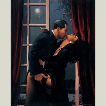 """ Night Geometry "" - Jack Vettriano Open Greeting Card - HPVC001 HEARTBREAK PUBLISHING"