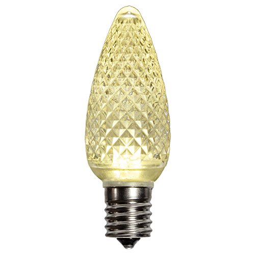 Holiday Lighting Outlet LED C9 Sun Warm White Replacement Christmas Light Bulbs, Commercial Grade, 3 Diode (Led's) in Each Bulb. Fits in E17 Sockets. Pack of 500 Bulbs by Holiday Lighting Outlet (Image #2)