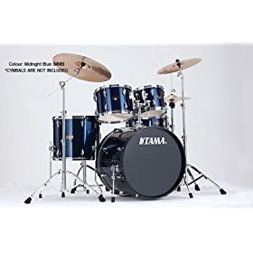 """Tama IP52KCMNB Imperialstar 5-Piece Complete Drum Kit with 22"""" Bass Drum & Hardware, Cymbals - Midnight Blue 1"""