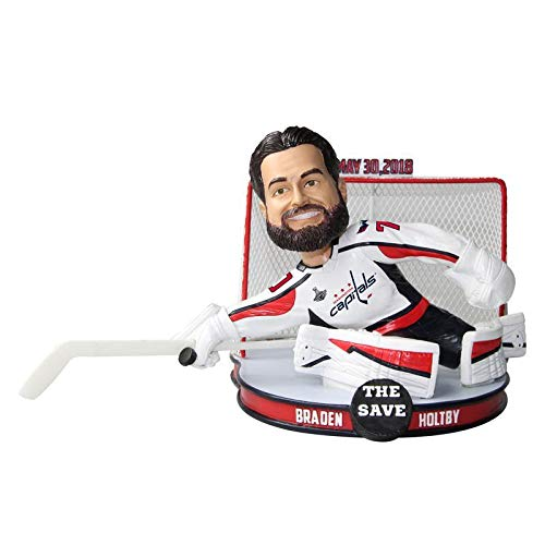 FOCO Braden Holtby Washington Capitals 2018 Stanley Cup The Save Bobblehead NHL