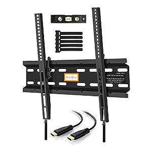 Perlegear Tilt TV Wall Bracket  – Ultra Slim TV Bracket Fits 23-55 Inch Plasma Flat Screen TVs – Fixed Tilting TV Wall Mount Saves Space – Really strong bracket, what a great item