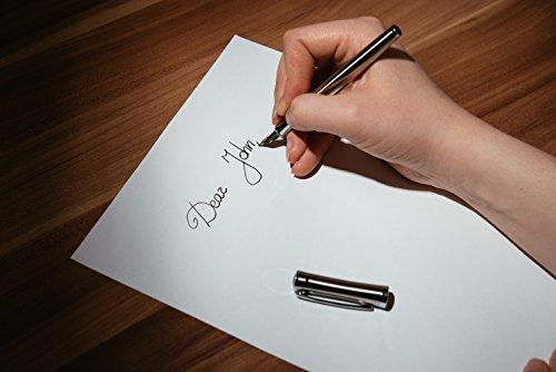 Fountain pen ink cartridges gift set/Calligraphy water fountain pen/Iridium fine nib/Signature/ Refillable converter/Pluma estilografica by STYGHY (Image #4)