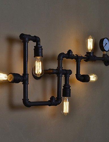 Xpro Retro Wasser Rohr Wandleuchte Vintage Gang Lichter Loft Eisen Farbe ländlichen ausgleichend Antike New Arrival