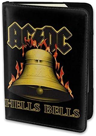ACDC Hellobells パスポートケース メンズ 男女兼用 パスポートカバー パスポート用カバー パスポートバッグ 小型 携帯便利 シンプル ポーチ 5.5インチ高級PUレザー 家族 国内海外旅行用品