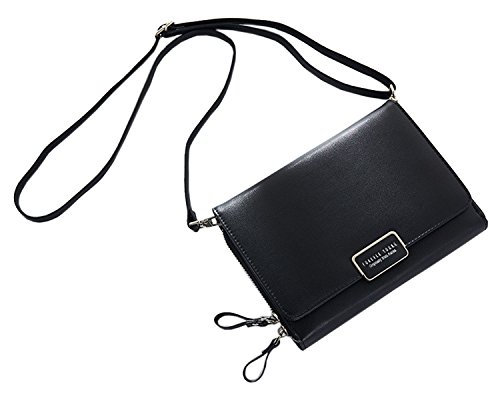 New Purse Pu Black Case Clutch Wallet Womens Holder Black Leather SAIERLONG fxYqdwf