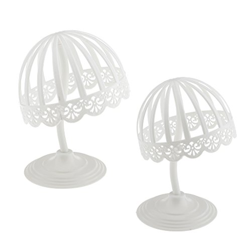MagiDeal Lot 2 Pieces Detachable Baby Hat Caps Hemlet Display Stand Rack Wigs Toupee Storage Holder Shelf for Salon Home Shop