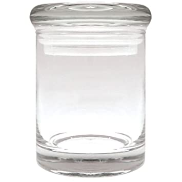 APOTHECARY THICK GLASS MEDICAL HERB STASH JARS ODOR PROOF AIR TIGHT SUCTION  LID