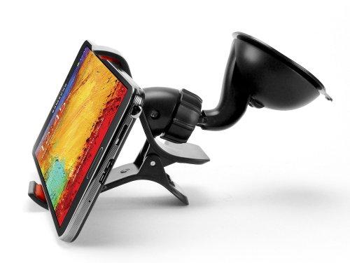 Cellet Dashboard/Windshield Cradle Clip Car Mount Bracket Holder For Samsung Galaxy Light T399 + Keychain Tool