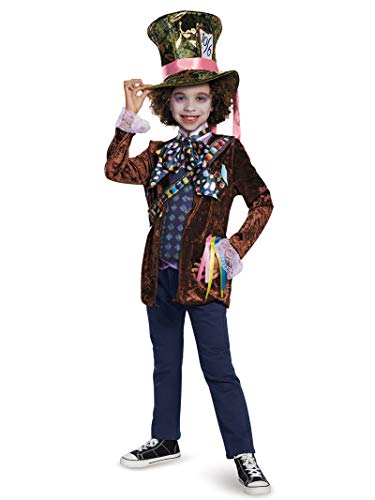 Literary Halloween Costume (Mad Hatter Classic Alice Through The Looking Glass Movie Disney Costume,)