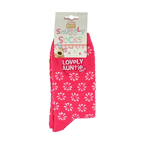 Boofle Lovely Auntie Fluffy Slipper Socks