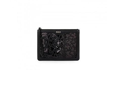 Tous Cartera Clutch Kaos Shock de Lona en color negro: Amazon.es: Zapatos y complementos