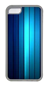 Apple iPhone 5C Case and Cover - Vertical Blue Stripe Texture Custom PC Case Cover For iPhone 5C - Tranparent