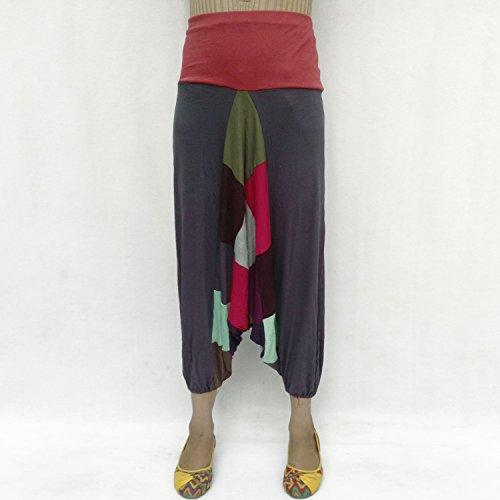 Royal Beau Taille Kraft Multicolore Bonneterie Pantalon Harem Élastique Afghani Coton BHvwBq