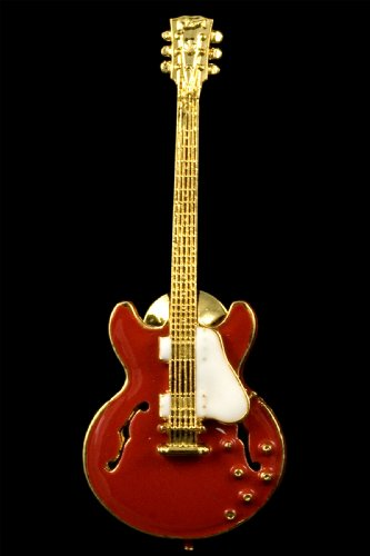 ES335 Hollowbody Guitar Pin - Red Harmony Jewelry FPP609GRD