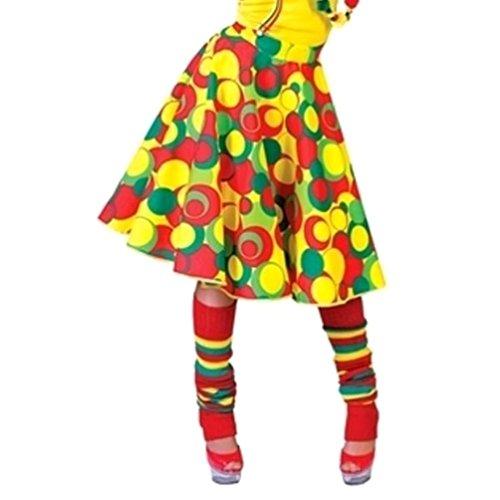 Girls Clown Skirt Costume Polka Dot Green Yellow Red Child 4-10 Dance (Frank The Bunny Costume Girl)