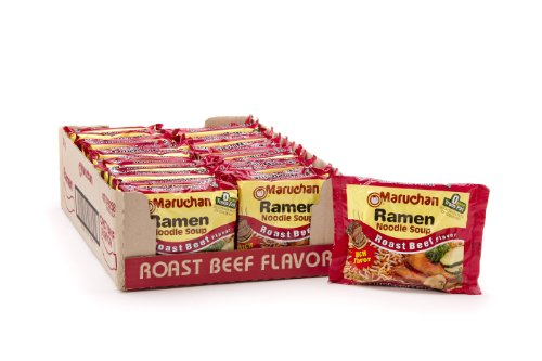 Maruchan Ramen, Roast Beef, 3-Ounce Packages (Pack of 24) (Roast Beef)