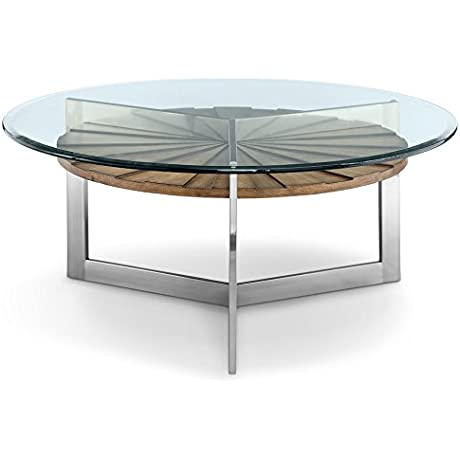 Magnussen T3805 45 Rialto T3805 Rialto Contemporary Brushed Nickel Round Coffee Table