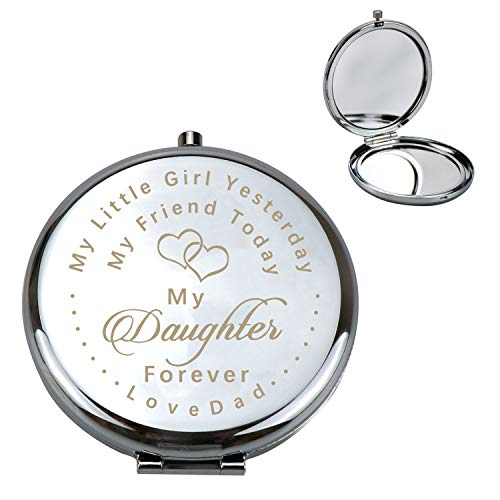 Personalized Makeup Mirror Custom Unique Gift Ideas For Dad to Daughter Wife -