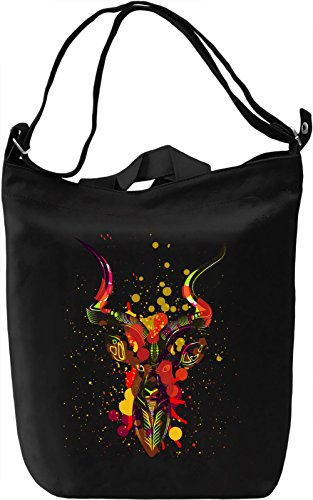 Stag Head Borsa Giornaliera Canvas Canvas Day Bag| 100% Premium Cotton Canvas| DTG Printing|