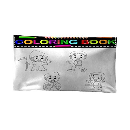 Leighhome Room tapestrybedroom tapestrykids Halloween Coloring Book 60W x 40L Inch