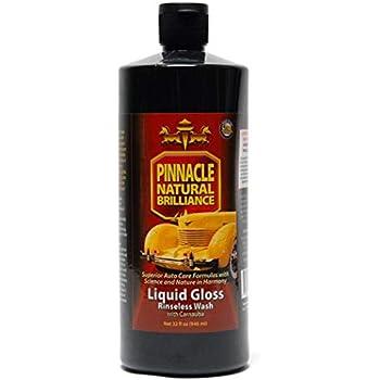 Pinnacle Natural Brilliance PIN-720 Liquid Crystal Rinseless Wash with Carnauba, 32 fl. oz.
