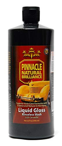Pinnacle Natural Brilliance PIN-720 Liquid Crystal Rinseless Wash with Carnauba, 32 fl. oz.