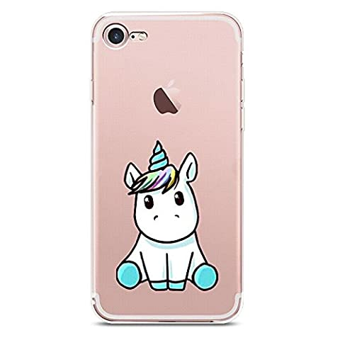 iPhone 7 Plus Case, JICUIKE Cute Cartoon Animal Horse Silicone TPU Soft Shell Rubber Back Cover Skin Transparent Print for Apple iPhone 7 plus 5.5 inch [Lovely (Iphone 6plus Disney Animal Cases)
