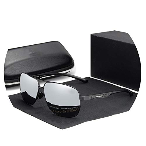 Zombie Jessica Women Men Sunglasses Polarized Mirror Lens Vintage Eyewear Driving Sun glasses,Black silver