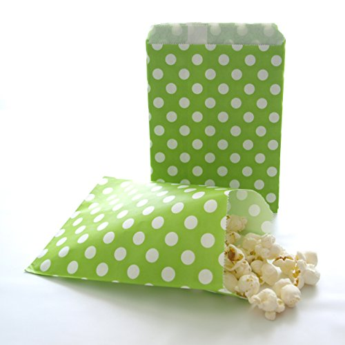 Dessert Candy Buffet Sacks, Party Favor Ideas for Wedding Receptions or Birthday Parties, Green Polka Dot Bags (25 - Buffet Ideas Food Xmas