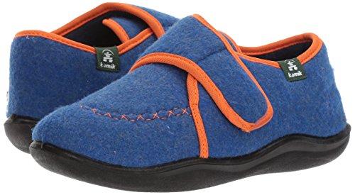 Kamik Boys' Cozylodge Slipper, Blue/Orange, 5 Medium US Toddler - Image 6