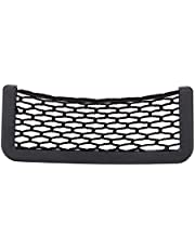 Car Seat Side Storage Net Bag Strong Viscidity Universal Car Pocket Storage Organizer Designed With Double-Sided Tape,Easy To Install