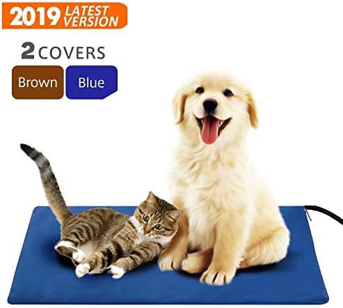 Tonha Pet Heating Pad 15W | Indoor Electric Warmer for Dogs, Cats, Animals | Whelping Box, Heated Bed, Warming Mat | with Chew Resistant Cord, Replaceable Covers, Waterproof Layer | 11.8X 15.7in