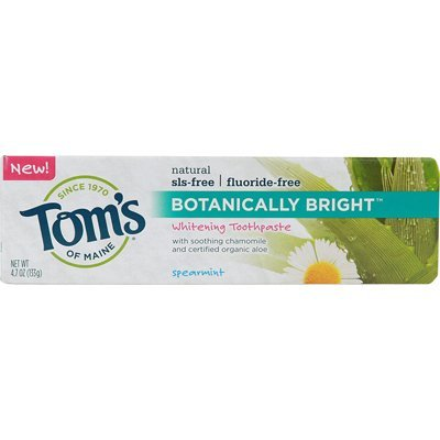 Botanically Bright Toothpaste Spearmint Tom's Of Maine 4.7 oz Paste