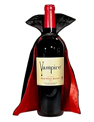 VAMPIRE RED WINE BLEND With Vampire Wine Cape