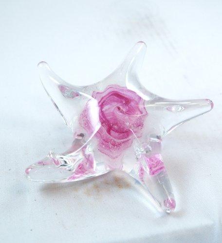 M Design Art Handcraft Ruby Ocean Star Millefiori Glass Paperweight PW-208