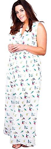Lungo Maxi L Dimensioni Con Signore Chiffon Davanti Avvolgere Nuove Fodera Uccello 2xl Salamoia Più Vestito Cioccolato Torsione P7q6R6