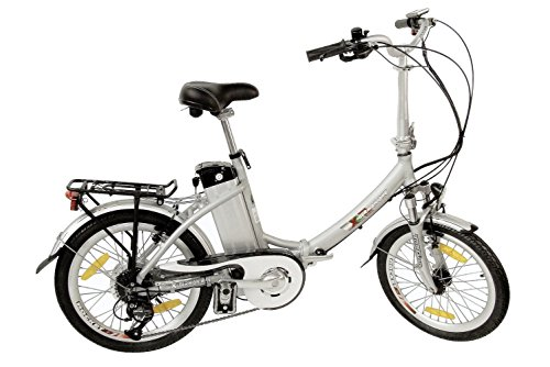 xGerman Elektro-Faltrad 20 Zoll eTurbo COMFORT 7G Shimano LCD, 250W HR-Antrieb/10Ah, bis 80 km Reichweite nach StVZO, LenkerType:Lenker Comfort