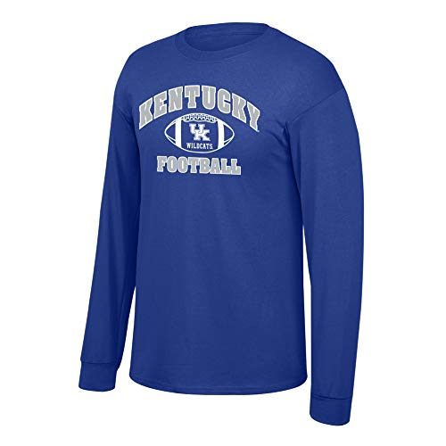 Men's Kentucky Wildcats Football Long Sleeve T-shirt Team Color Kentucky Wildcats Royal Medium ()
