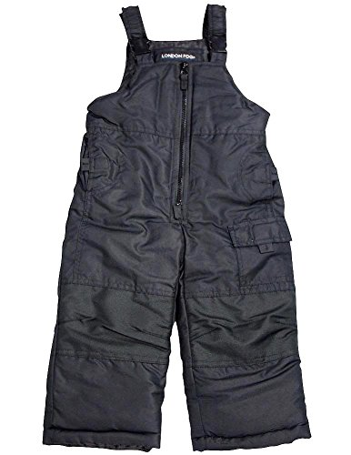 London Fog - Little Boys' Bib Snowpant, Black 34008-4